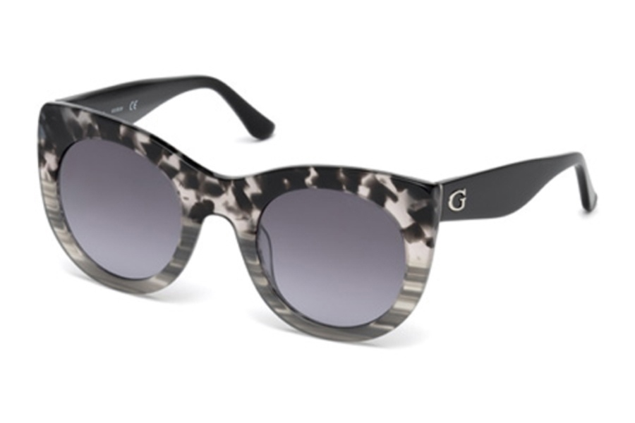 Guess GU 7485 Sunglasses in 05C - Black/Other / Smoke Mirror