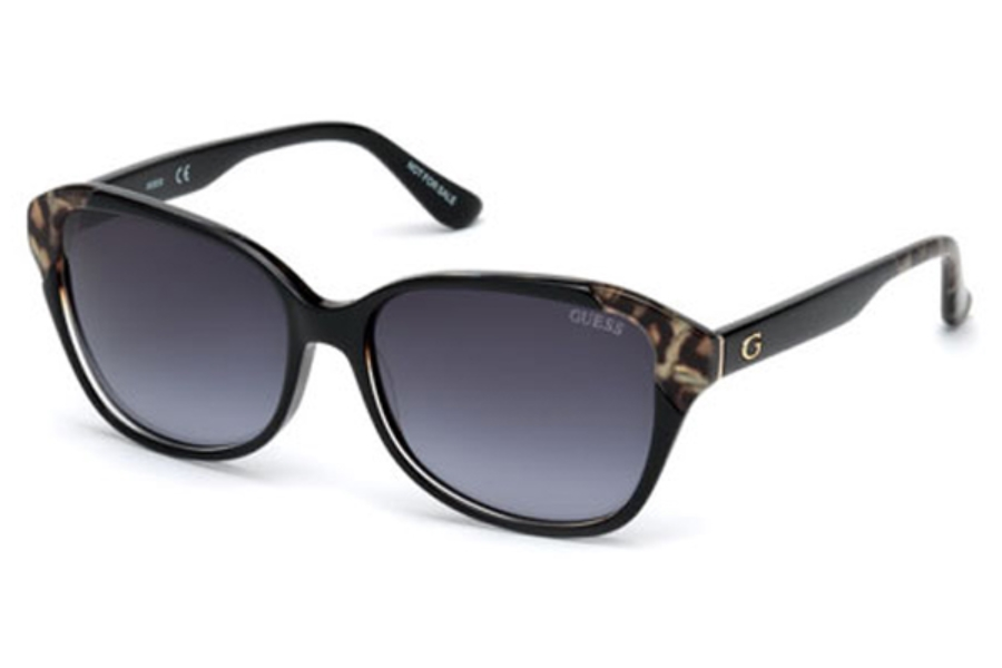 Guess GU 7510 Sunglasses in 05B - Black/Other / Gradient Smoke