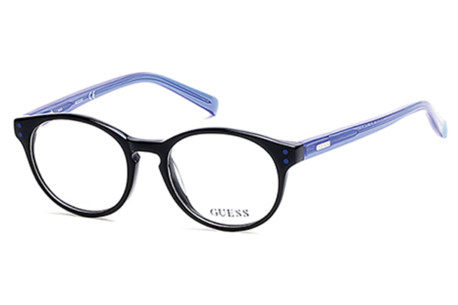 Guess GU 9160 Eyeglasses in 001 - Shiny Black