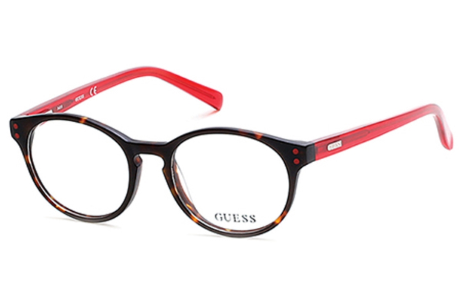 Guess GU 9160 Eyeglasses in 052 - Dark Havana