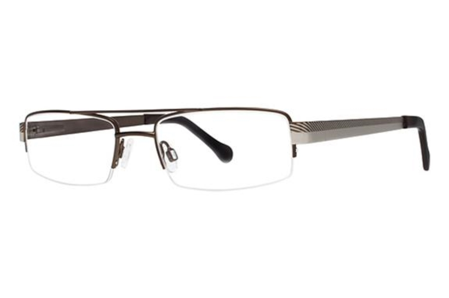 G.V.X. GVX518 Eyeglasses in Matte Brown/Matte Silver