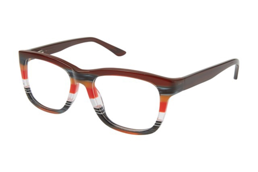 GX by Gwen Stefani GX901 Eyeglasses in RED Red Horn