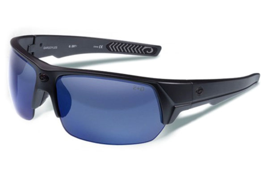 Gargoyles Recoil Sunglasses in Grey Crystal Smoke/Blue Mirror