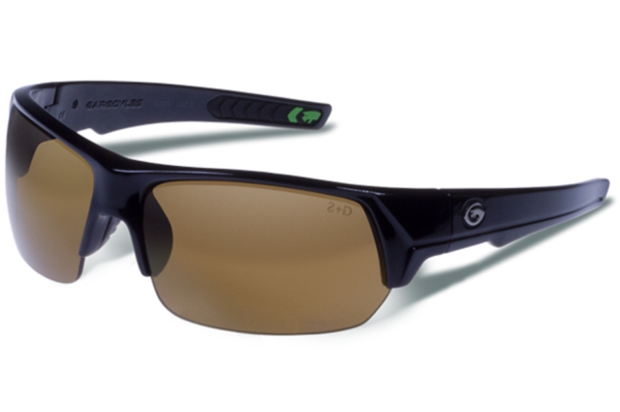 Gargoyles Recoil Sunglasses in Black / Brown Polarized