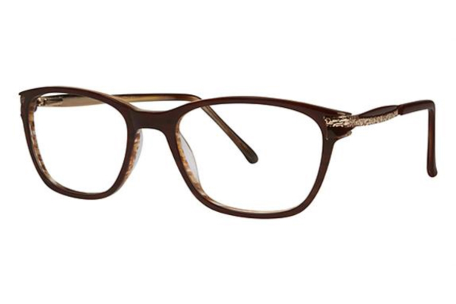 Genevieve Boutique Plus GB+ Electrifying Eyeglasses in Brown/Gold