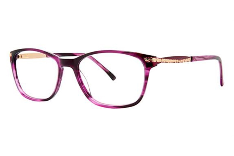 Genevieve Boutique Plus GB+ Electrifying Eyeglasses in Plum/Gold