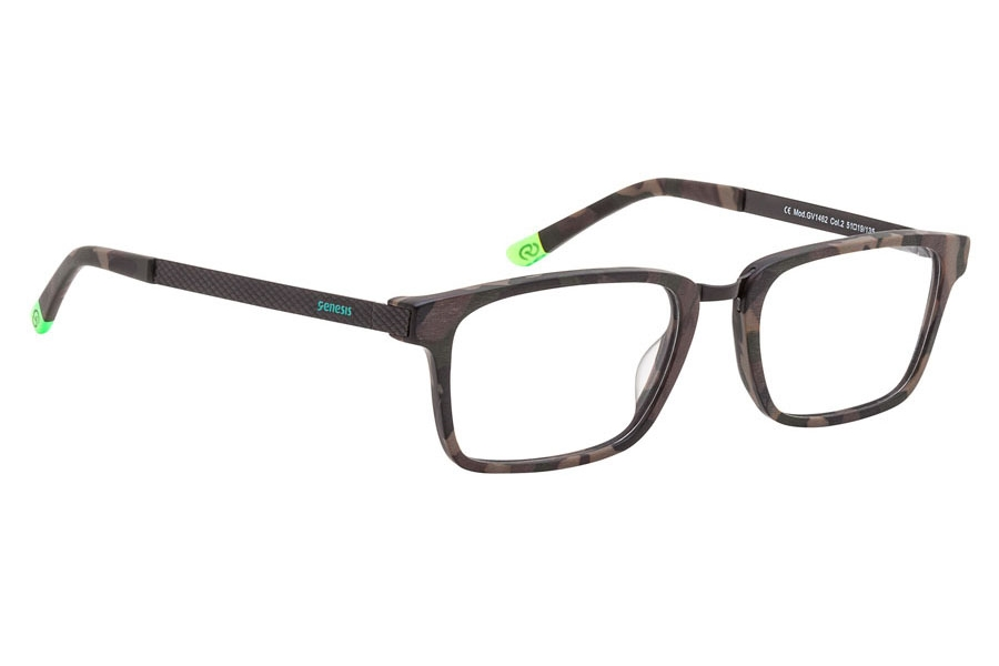 Genesis Easy GV 1462 Eyeglasses in 02 Brown/Green