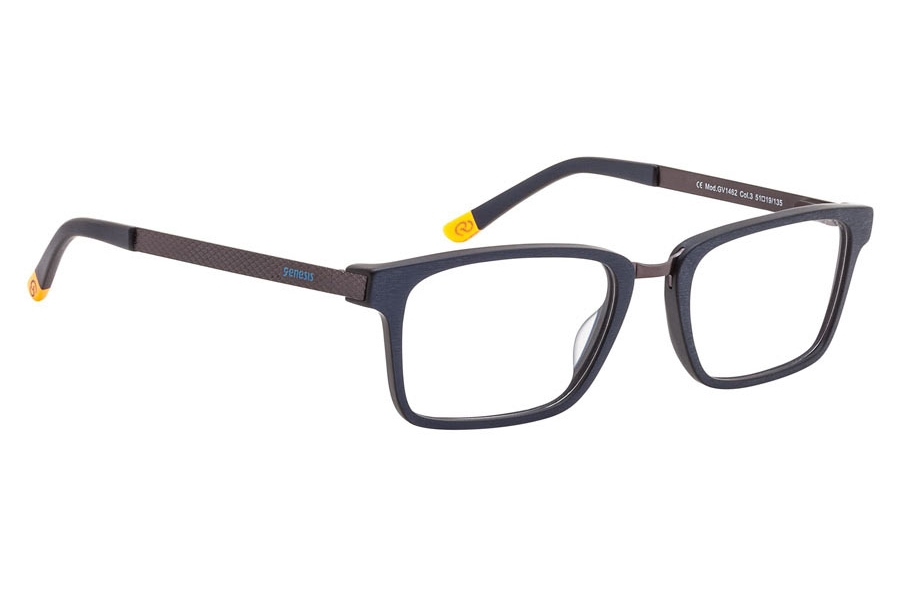 Genesis Easy GV 1462 Eyeglasses in 03 Black/Brown/Yellow