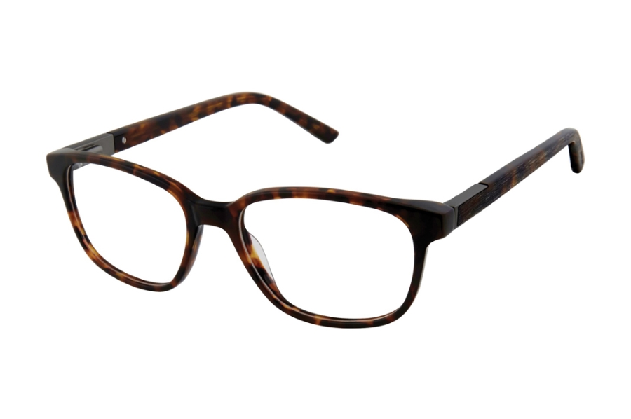Geoffrey Beene G525 Eyeglasses in TOR Brown Tortoise