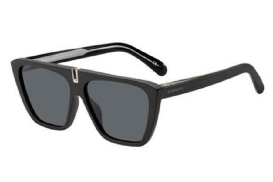 GIVENCHY Gv 7109/S Sunglasses in 0003 Matte Black (IR gray blue lens)
