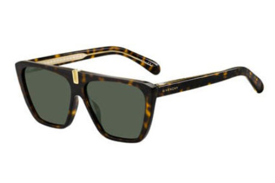 GIVENCHY Gv 7109/S Sunglasses in 0086 Dark Havana (QT green lens)