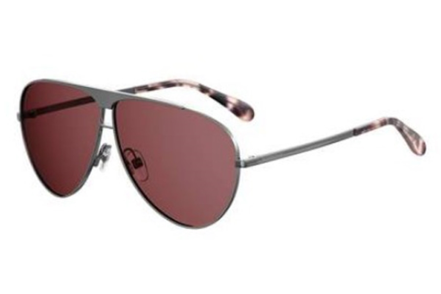 GIVENCHY Gv 7128/S Sunglasses in 0DXB Ruthenium Powder (4S burgundy lens)