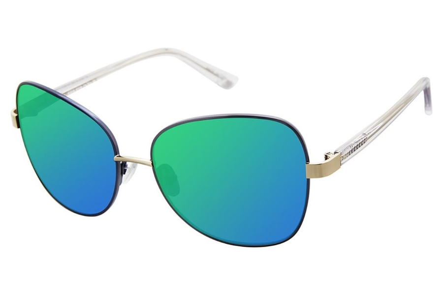 Glamour Editors Pick GL2006 Sunglasses in C02 Mt Navy/Crystal