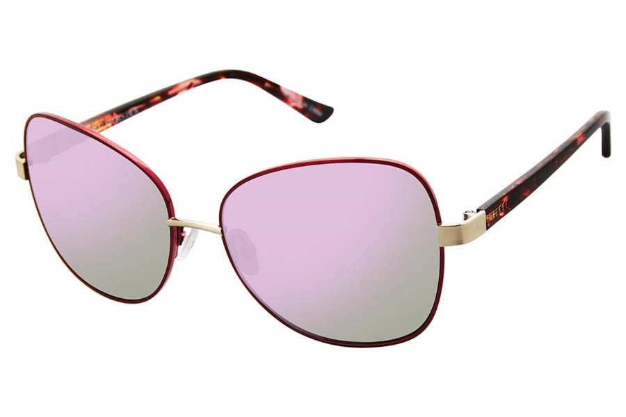 Glamour Editors Pick GL2006 Sunglasses in C03 Mt Burgundy/Red
