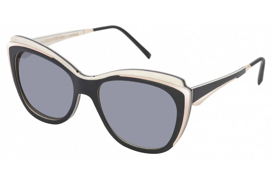 Gold & Wood Lea 01 Sunglasses in Gold & Wood Lea 01 Sunglasses