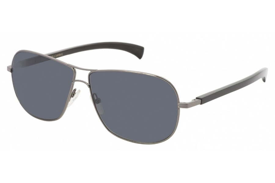 Gold & Wood Spica 01 Sunglasses in 02 Gun / Black Horn (Discontinued)