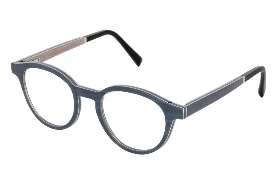 Gold & Wood Naos 01 Eyeglasses in Gold & Wood Naos 01 Eyeglasses