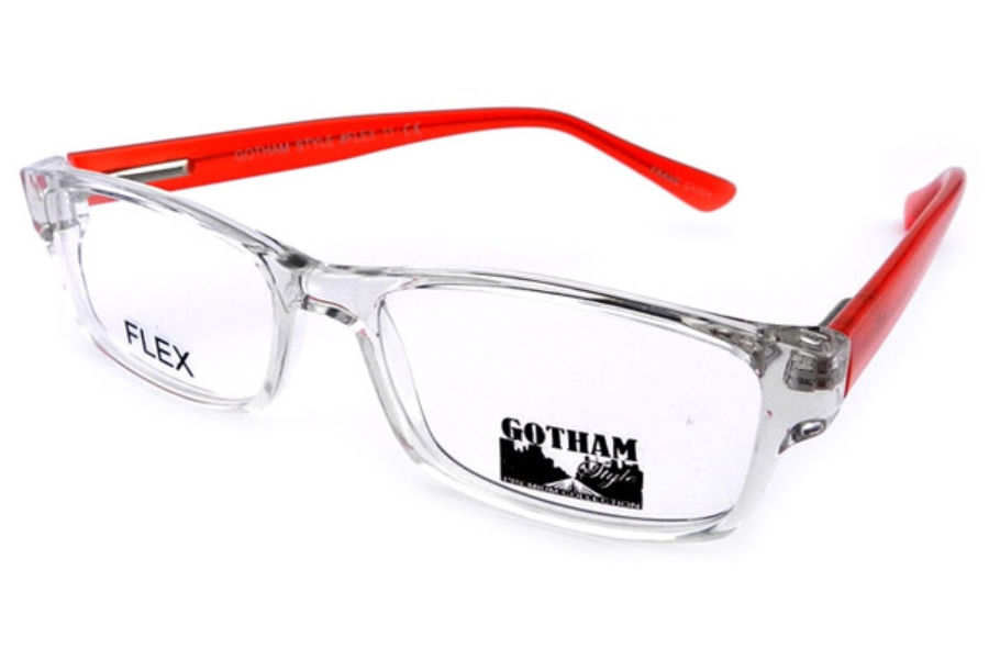 Gothamstyle Gotham Premium Flex 11 Eyeglasses in Crystal Red