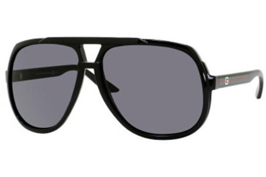 9bb4c52eb4a58 Gucci 1622 S Sunglasses in 0D28 Shiny Black (R6 gray lens) ...