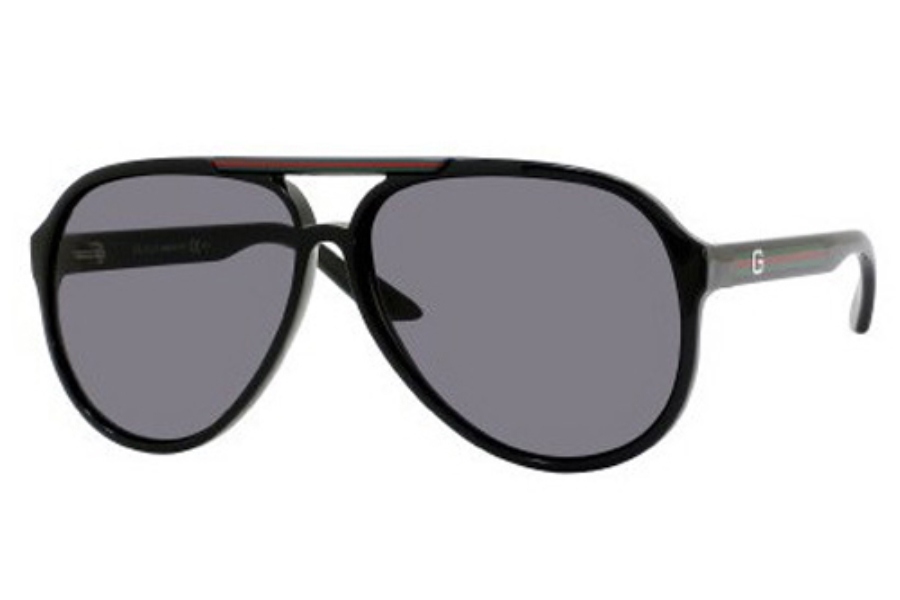 3bebe9e7deb Gucci 1627 S Sunglasses in 0D28 Shiny Black (R6 gray lens) ...