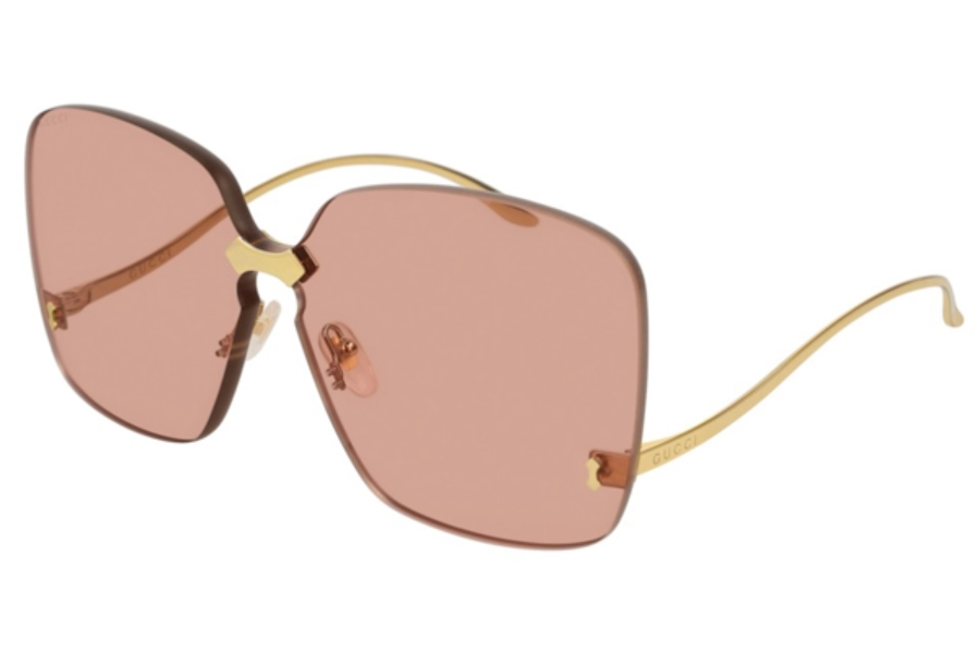 Gucci GG0352S Sunglasses in 003 Gold / Pink