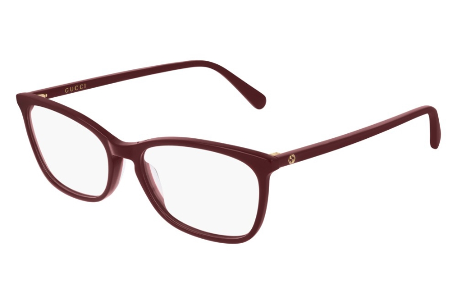 Gucci GG0548O Eyeglasses in 004 Burgundy (53 Eye Size Available)