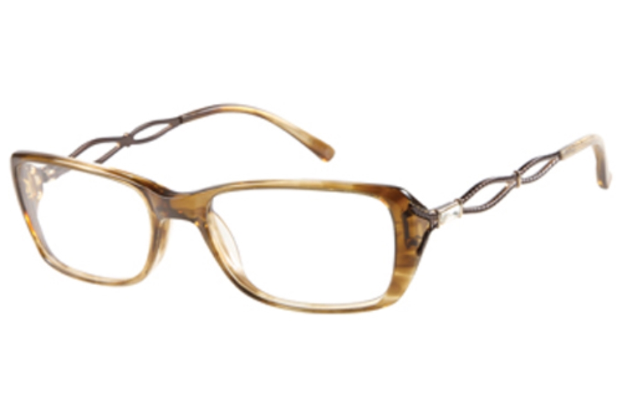 Guess by Marciano GM 157 Eyeglasses in BRNHN BROWN/HORN