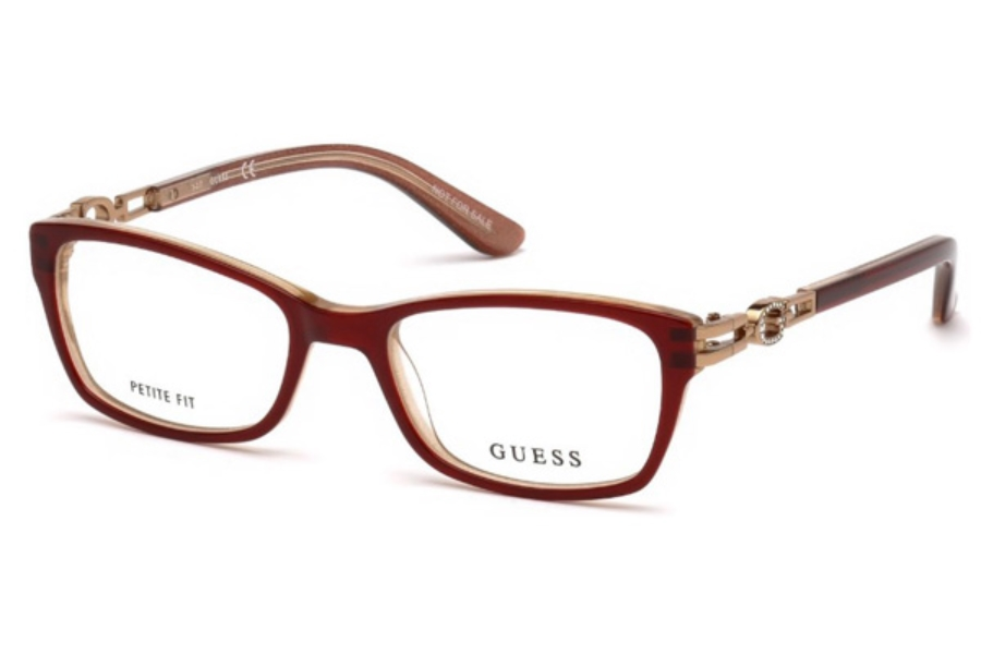 Guess GU 2677 Eyeglasses in 069 - Shiny Bordeaux