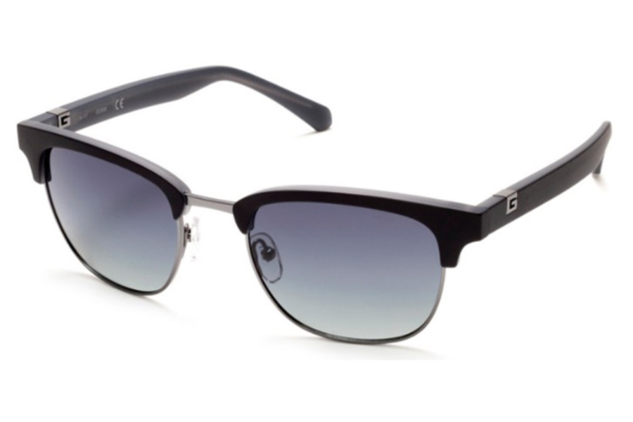 Guess GU 6895 Sunglasses in 02D - Matte Black / Smoke Polarized