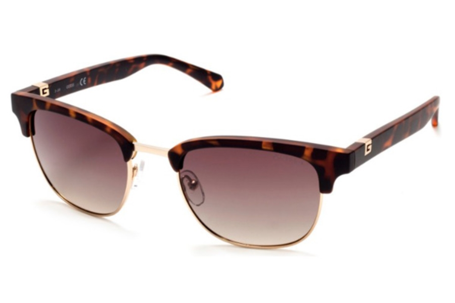 Guess GU 6895 Sunglasses in 52H - Dark Havana / Brown Polarized