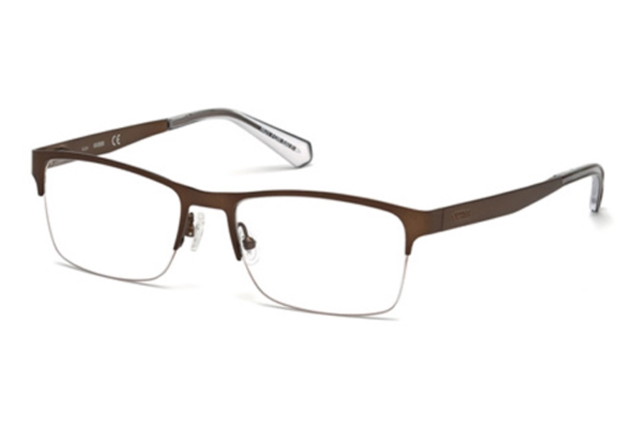 Guess GU 1936 Eyeglasses in 049 - Matte Dark Brown