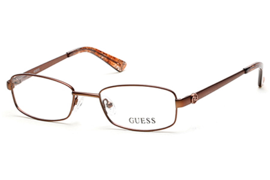 Guess GU 2524 Eyeglasses in 049 Matte Dark Brown