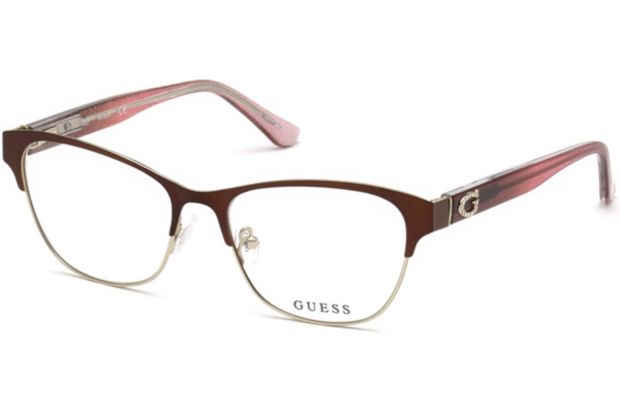 Guess GU 2679 Eyeglasses in 049 - Matte Dark Brown