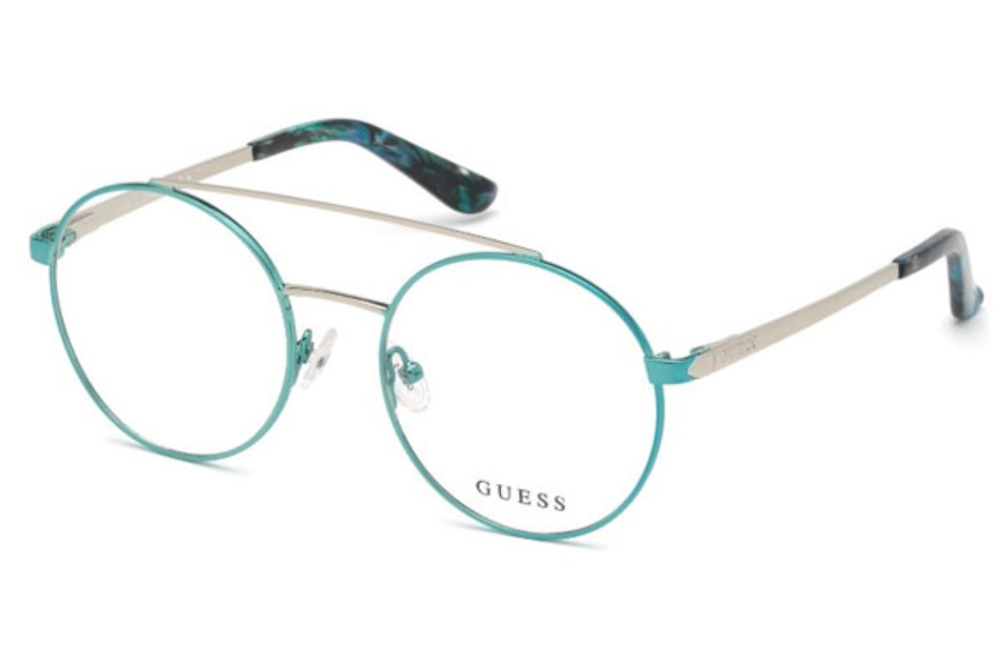 Guess GU 2714 Eyeglasses in 084 - Shiny Light Blue
