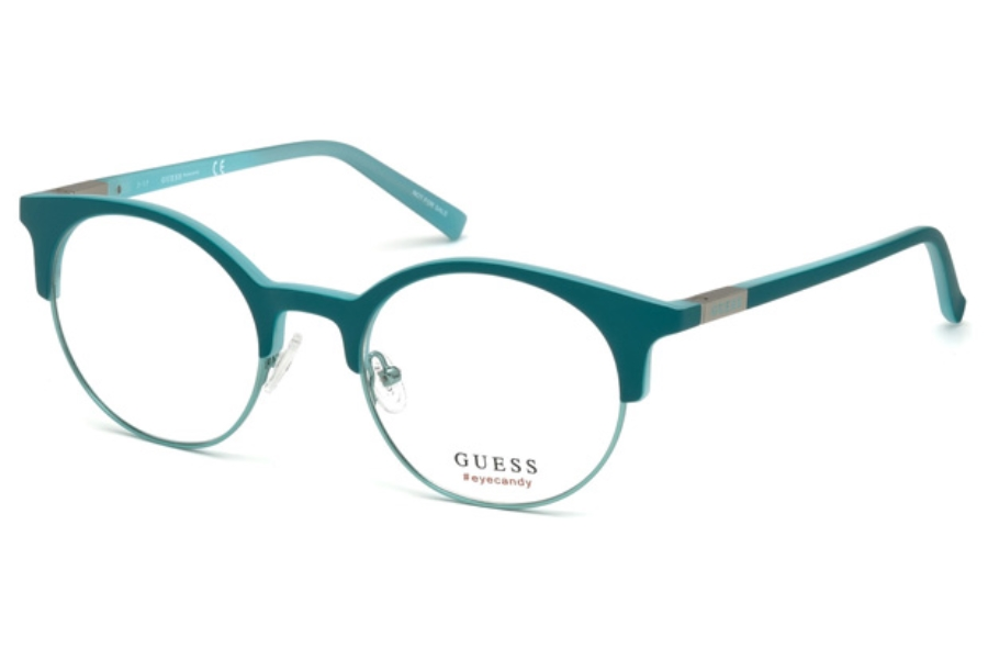 Guess GU 3025 Eyeglasses in 088 - Matte Turquoise