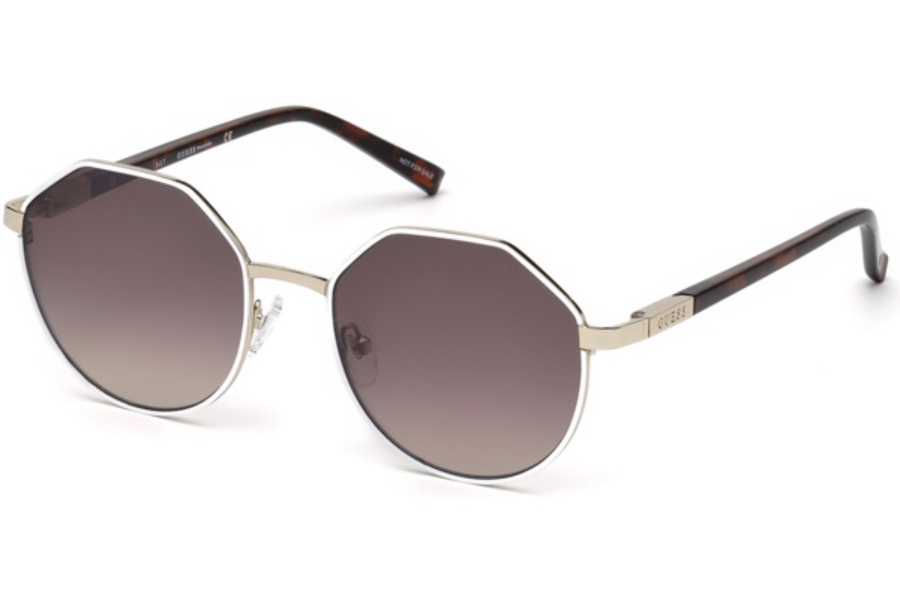Guess GU 3034 Sunglasses in 24F - White/other / Gradient Brown