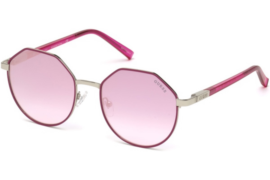 Guess GU 3034 Sunglasses in 74U - Pink /other / Bordeaux Mirror