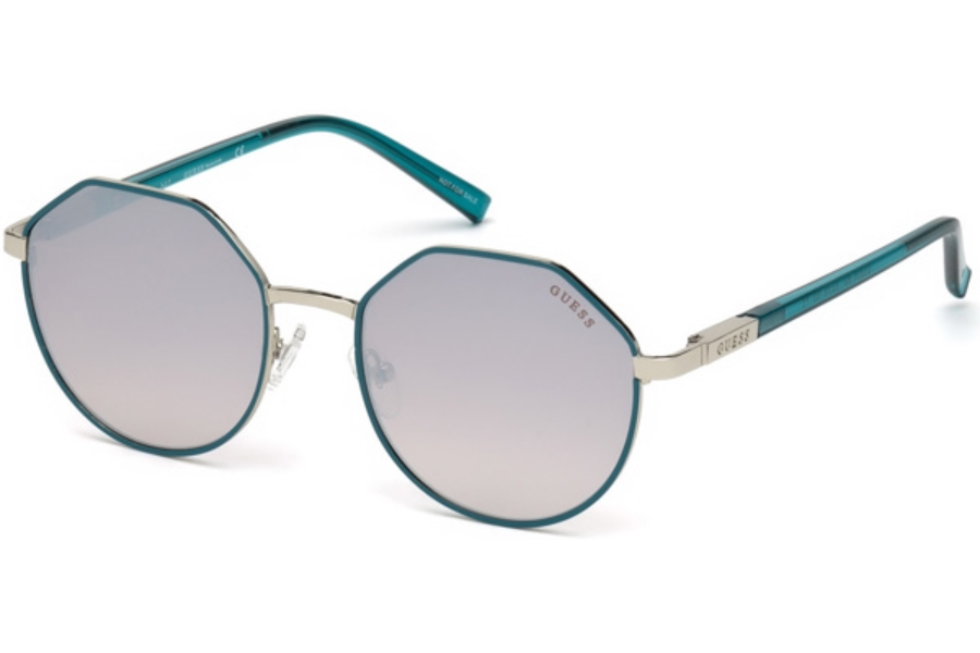 Guess GU 3034 Sunglasses in 89F - Turquoise/other / Gradient Brown