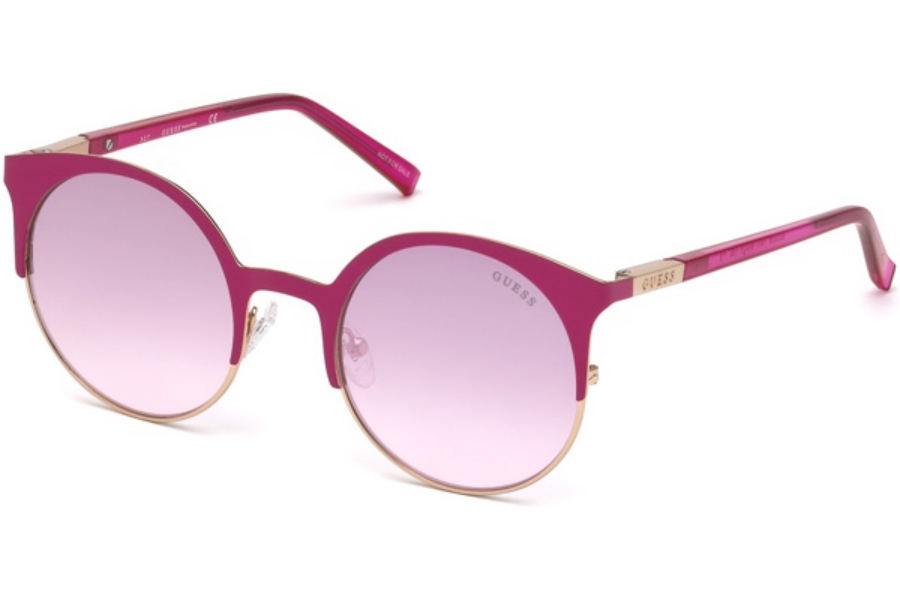 Guess GU 3036 Sunglasses in 74U - Pink /other / Bordeaux Mirror