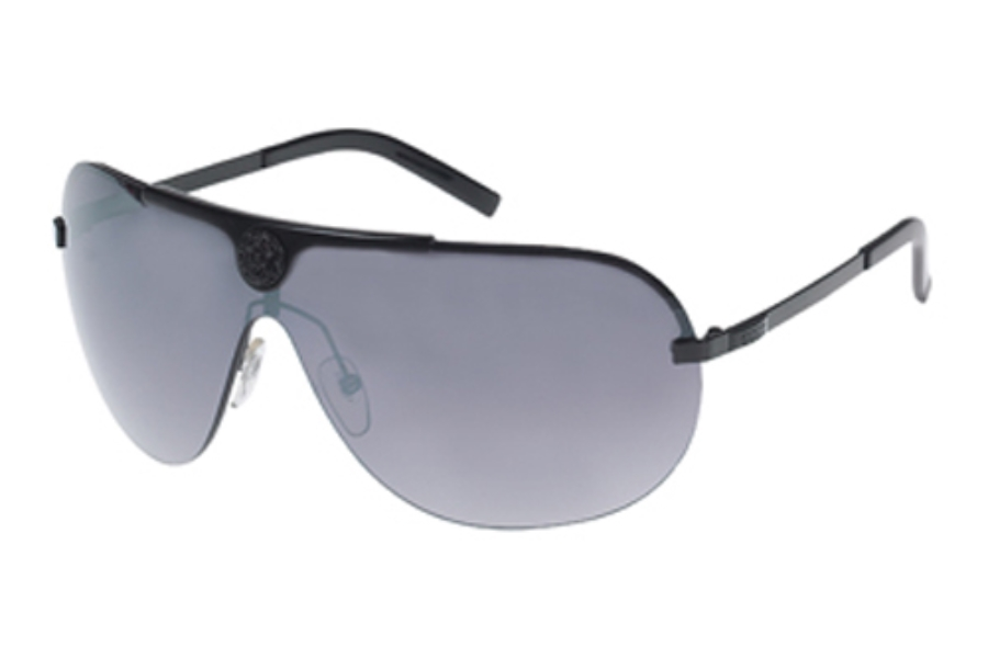 Guess GU 6425 Sunglasses in (BLK-35F) Black w/Grey Flash Lenses