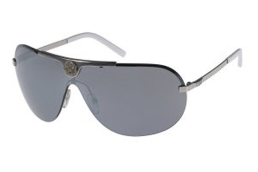 Guess GU 6425 Sunglasses in (SI-3F) Silver w/Grey Flash Lenses
