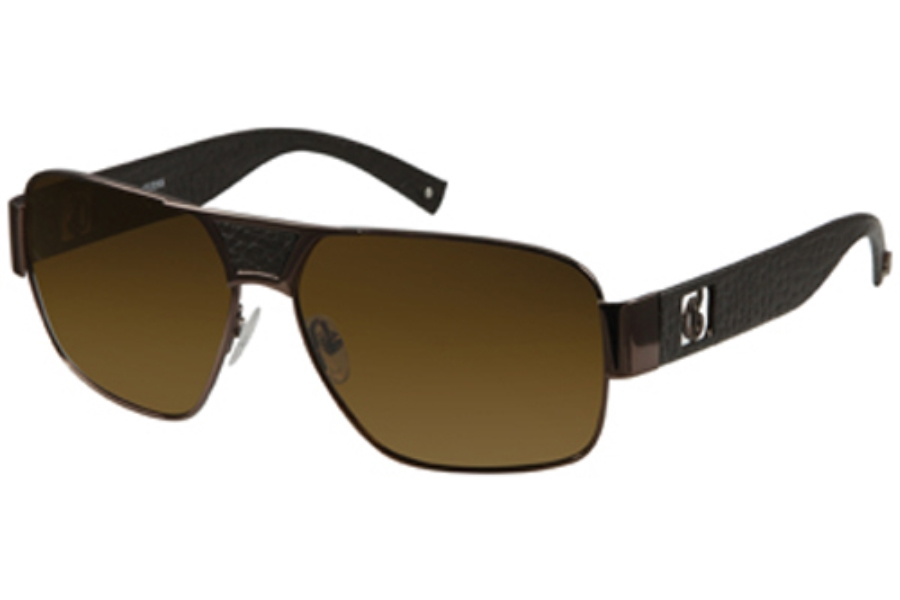 Guess GU 6608P Sunglasses in BRN-1 SHINY BROWN
