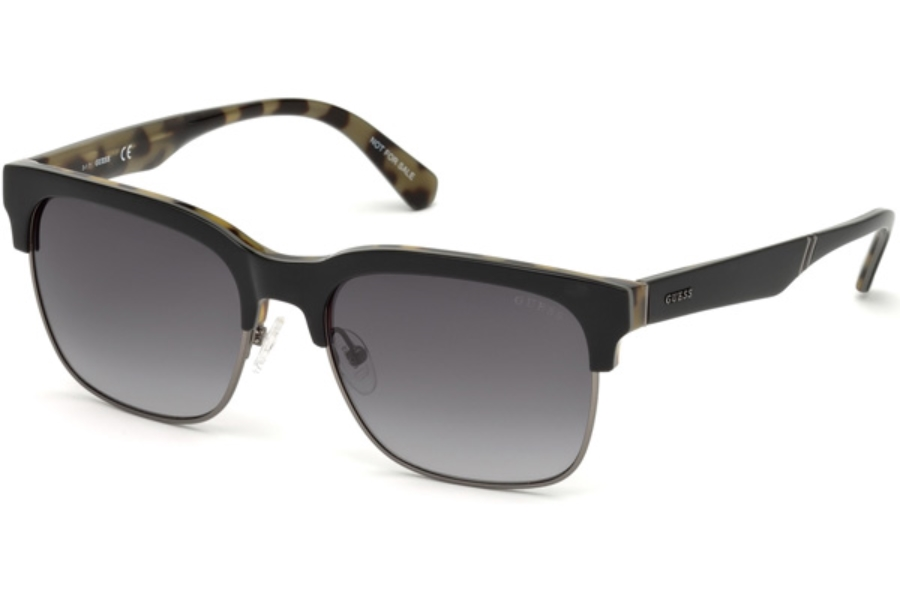 Guess GU 6912 Sunglasses in 05B - Black/other / Gradient Smoke