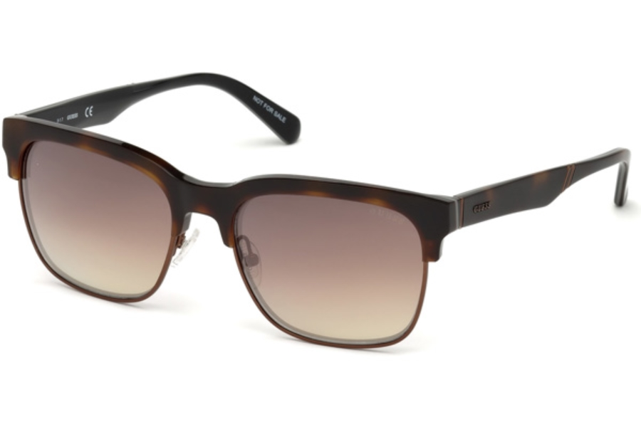 Guess GU 6912 Sunglasses in 52G - Dark Havana / Brown Mirror