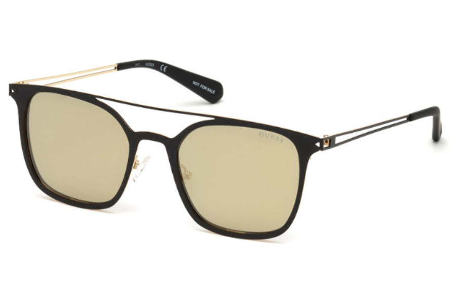 Guess GU 6923 Sunglasses in 02G - Matte Black / Brown Mirror