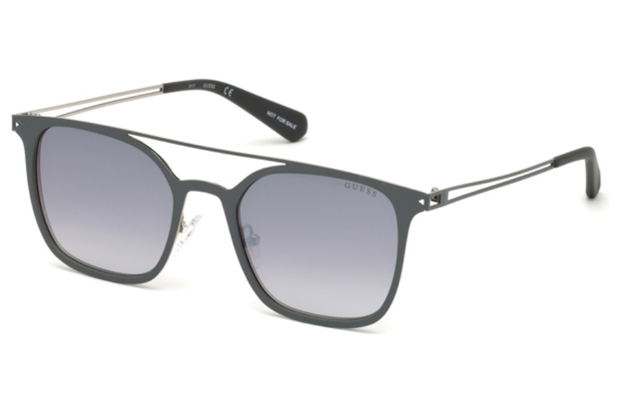 Guess GU 6923 Sunglasses in 09B - Matte Gunmetal / Gradient Smoke