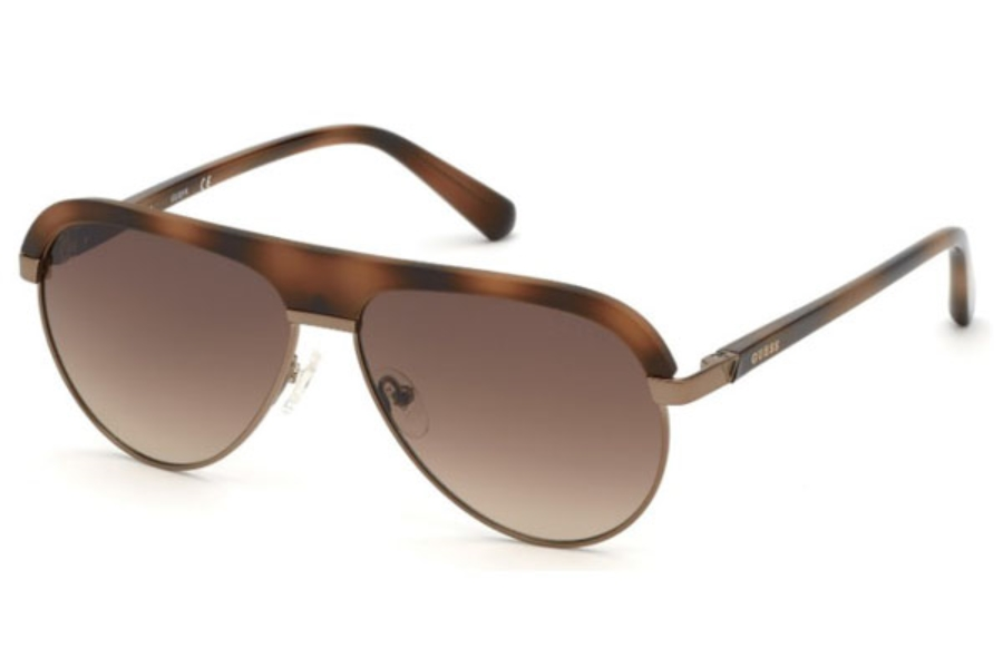Guess GU 6937 Sunglasses in 56F - Havana/other / Gradient Brown