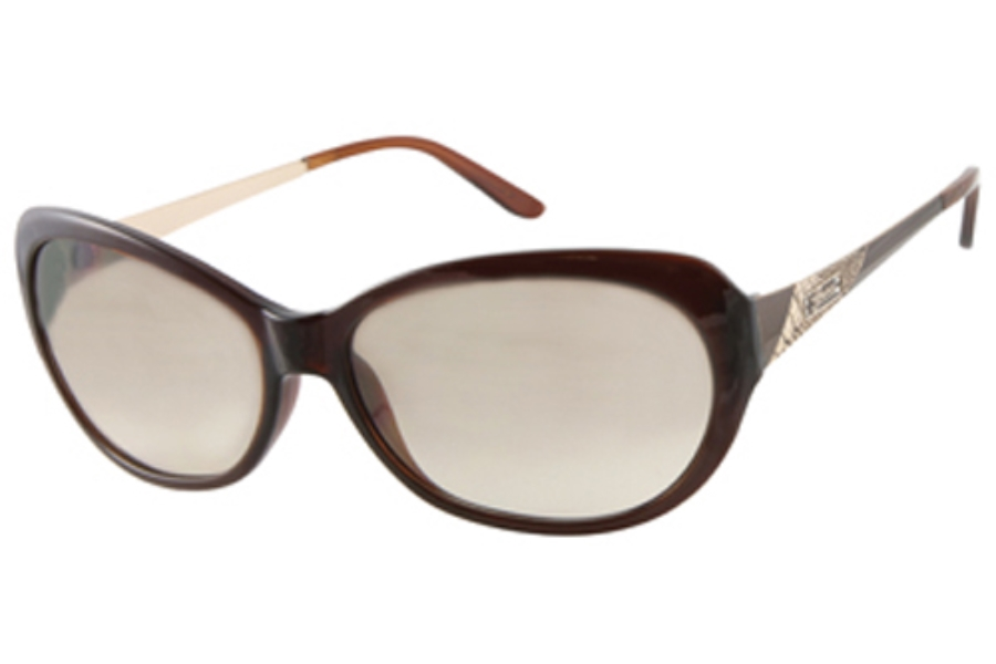 Guess GU 7104 Sunglasses in BRN-1 DARK BROWN