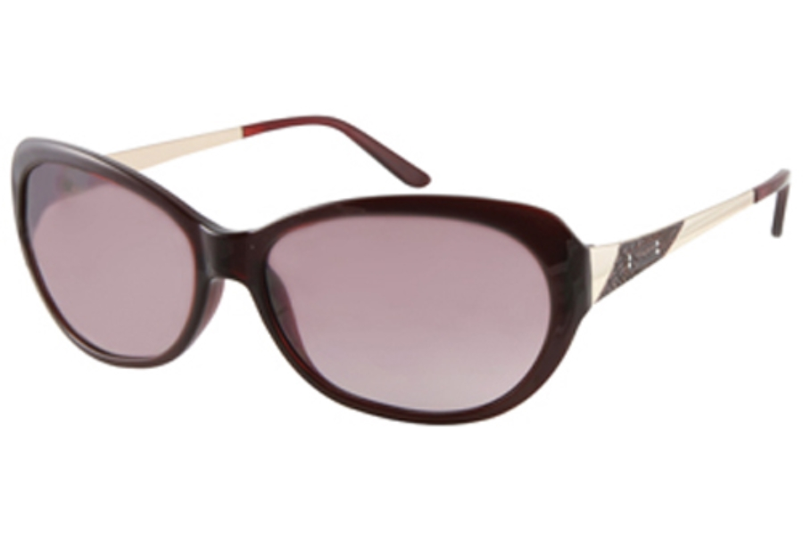 Guess GU 7104 Sunglasses in BU-52 DARK BURGUNDY