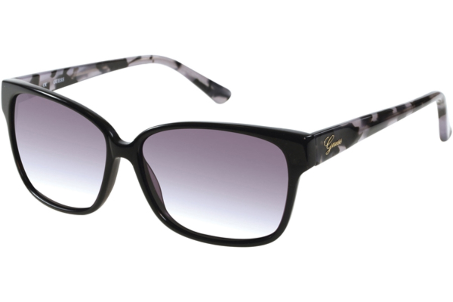 Guess GU 7331 Sunglasses in C33 - Black / Solid Smoke Lens